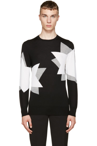 Neil Barrett - Black & Grey Double Pop Art Sweater