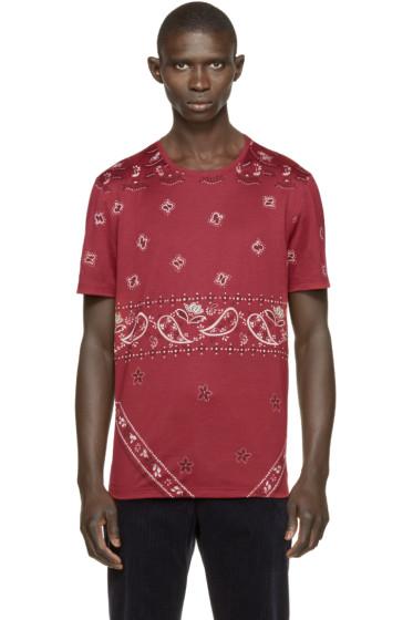 Burberry Prorsum - Red Paisley Print T-Shirt