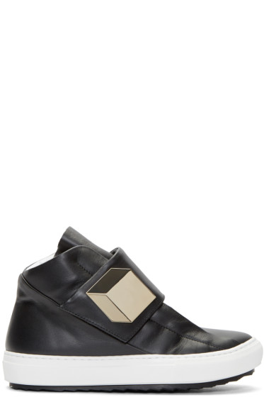 Pierre Hardy - Black Leather High-Top Magic Sneakers