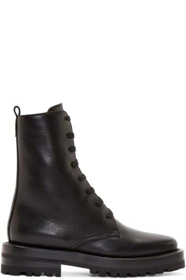 Marni - Black Leather Combat Boots