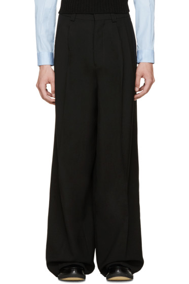 Marni - Black Wool Relaxed Pleated Trousers