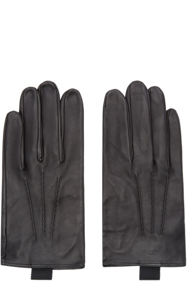 Thom Browne - Black Sheep Leather Gloves