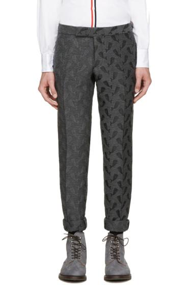 Thom Browne - Grey Whale Jacquard Trousers