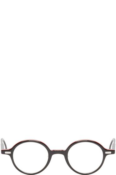 Thom Browne - Black Round Optical Glasses