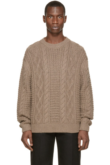Versace - Brown Wool Knit Sweater