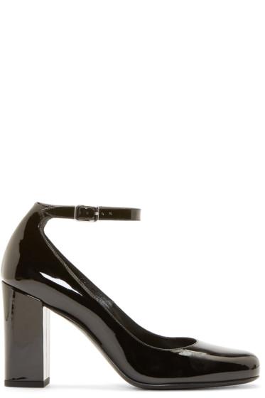 Saint Laurent - Black Patent Leather Mary Jane Heels