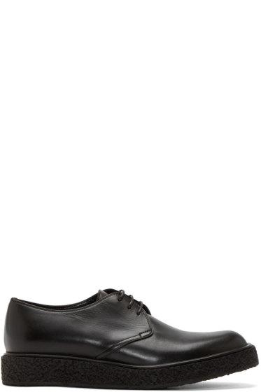 Saint Laurent - Black Leather Gumsole Derbys