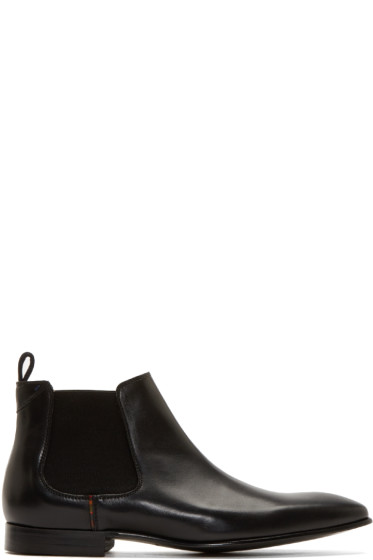 PS by Paul Smith - Black Leather Falconer Boots