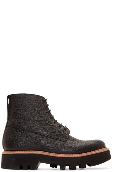 Grenson - Black Pebbled Leather Gideon Boots
