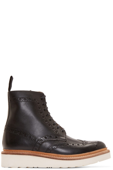 Grenson - Black Leather Fred Boots