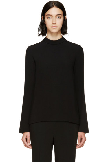 Stella McCartney - Black Flare Mock-Neck Blouse