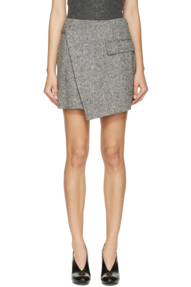 Stella McCartney - Black & White Tweed Wrap Skirt