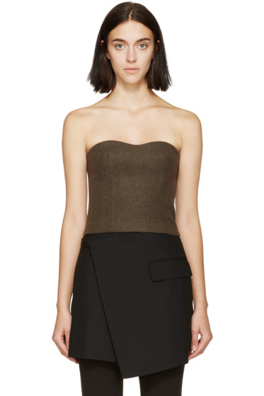 Stella McCartney - Olive Wool Bustier