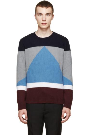Valentino - Multicolor Colorblock Cashmere Sweater