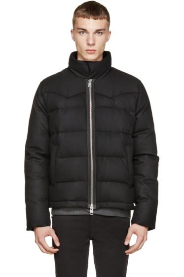 AMI Alexandre Mattiussi - Black Wool & Down Jacket
