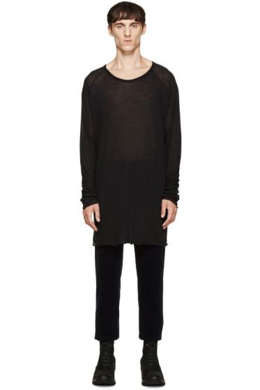 Haider Ackermann - Black Long-Sleeve T-Shirt