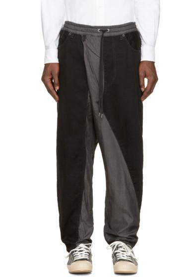 Miharayasuhiro - Black Hybrid Denim Thai Pants