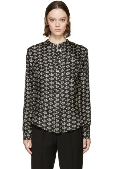 Isabel Marant - Black Silk Floral Usak Shirt