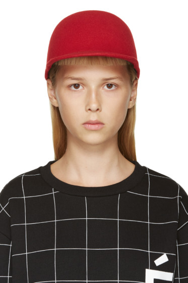 Etudes Studio - Red Felted Wool Day Cap