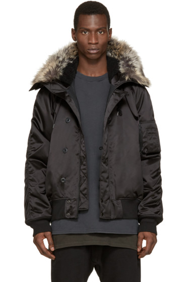YEEZY Season 1 - Black Faux-Fur Bomber Jacket