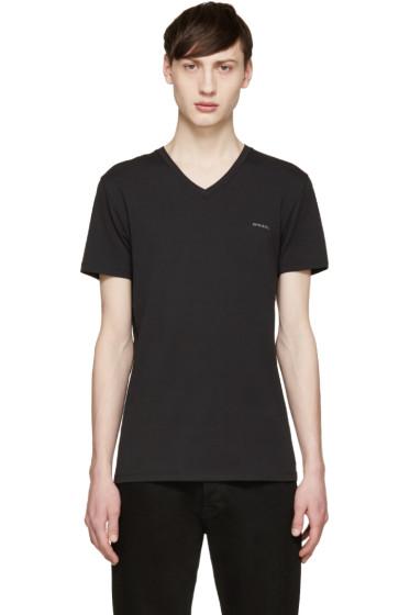 Diesel - Black V-Neck Umtee-Michael T-Shirt