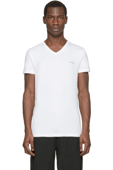 Diesel - White V-Neck The Essential T-Shirt