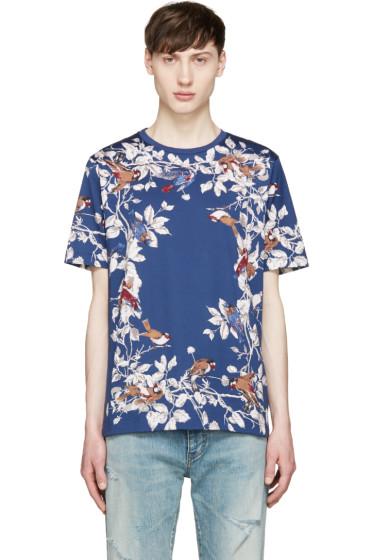 Dolce & Gabbana - Blue Birds & Floral T-Shirt