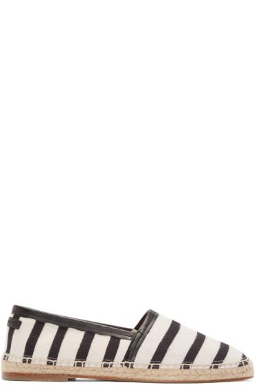 Dolce & Gabbana - Cream & Black Striped Espadrilles
