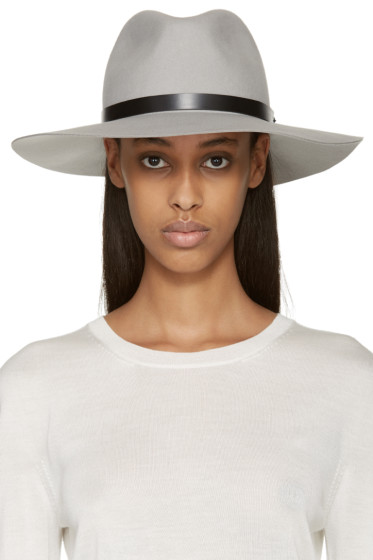 Rag & Bone - Grey Wide-Brim Fedora
