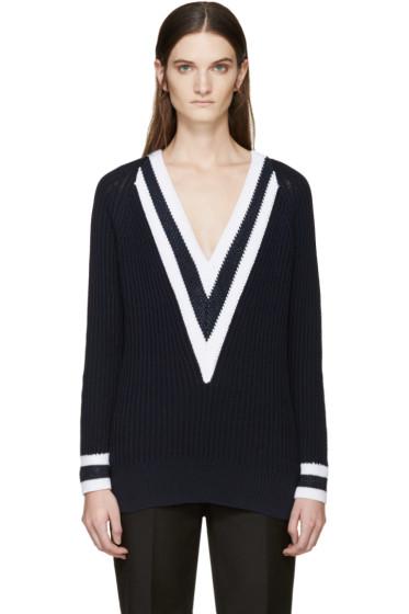Rag & Bone - Navy V-Neck Talia Sweater