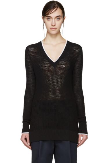Rag & Bone - Black V-Neck Maeve Sweater