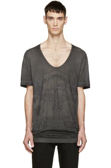 Diesel Black Gold - Black Distressed Graphic T-Shirt
