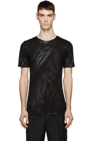 Diesel Black Gold - Black Brushstroke Print T-Shirt