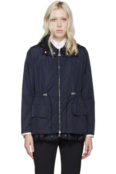 Moncler - Navy Nylon Ruffled Limbert Jacket