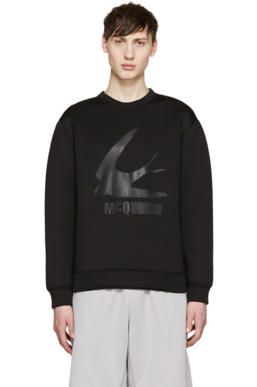 McQ Alexander Mcqueen - Black Neoprene Big Swallow Sweatshirt
