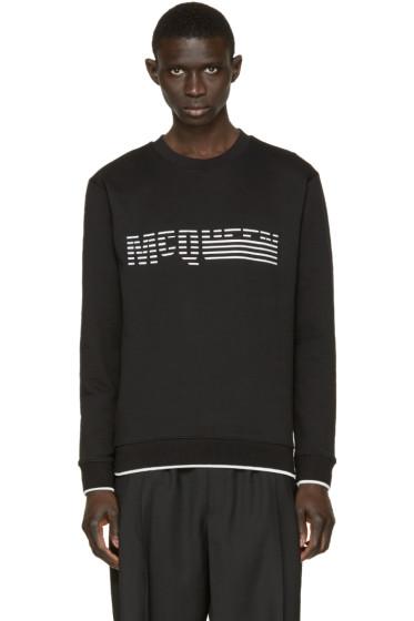 McQ Alexander Mcqueen - Black Rubberized Logo Pullover