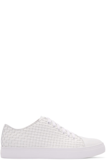 Tiger of Sweden - White Woven Leather Yngve Sneakers