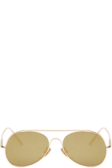 Acne Studios - Gold Small Spitfire Sunglasses