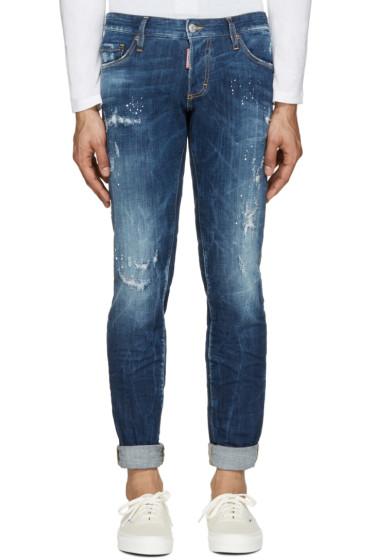 Dsquared2 - Blue Slim Distressed Jeans