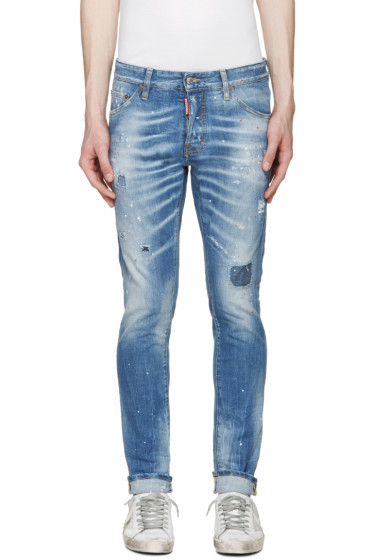 Dsquared2 - Blue Painted Cool Guy Jeans