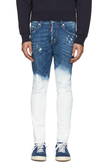 Dsquared2 - Blue Painted Skinny Jeans