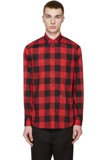 Dsquared2 - Red & Black Check Shirt