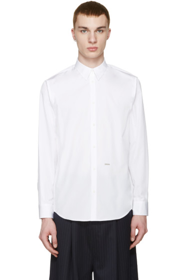 Dsquared2 - White Poplin Trapeze Shirt