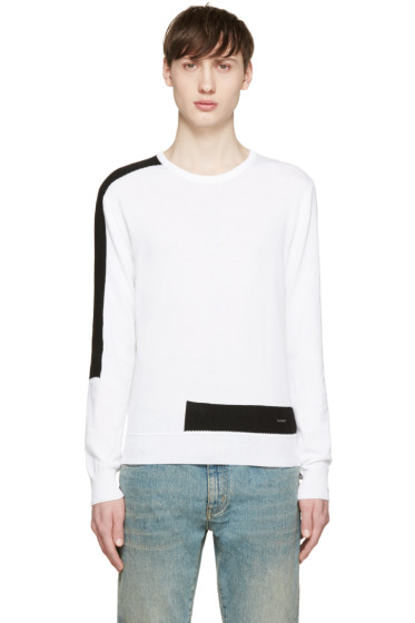 Dsquared2 - White & Black Techno Sweater