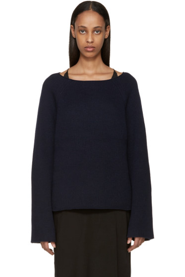 Helmut Lang - Navy Cashmere Knit Sweater