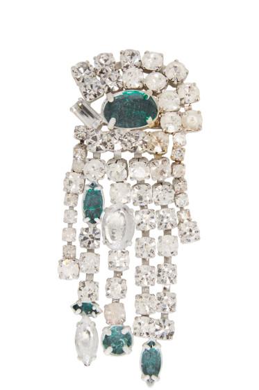 Maison Margiela - Silver Crystal Painted Brooch