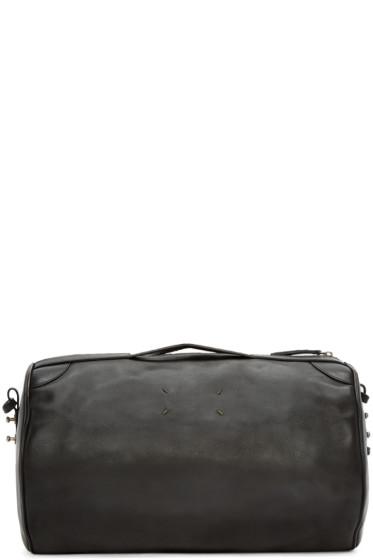 Maison Margiela - Black Leather Gym Bag