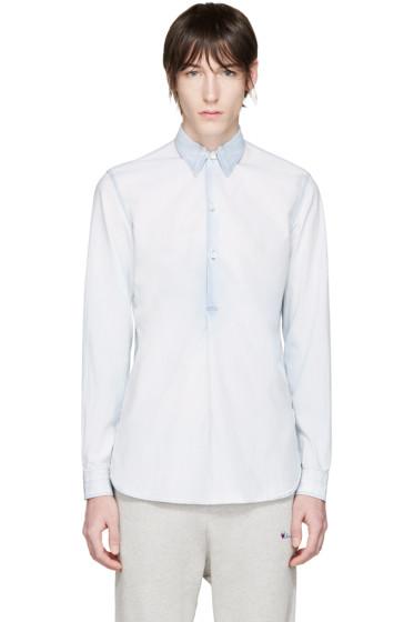 Maison Margiela - Blue Bleached Poplin Shirt
