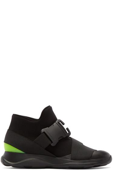 Christopher Kane - Black Buckle High-Top Sneakers