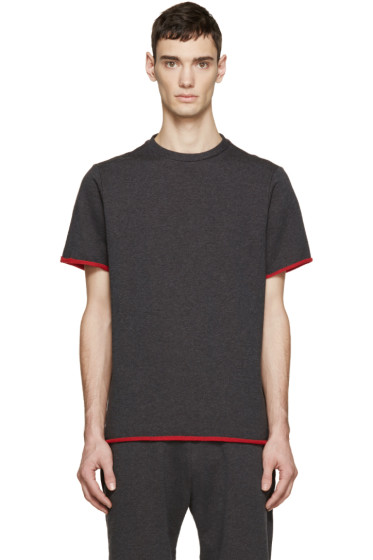 Christopher Kane - Grey French Terry T-Shirt